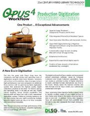 Opus WorkFlow Brochure